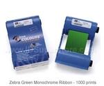 Zebra монохромная зеленая лента Green 800015-903